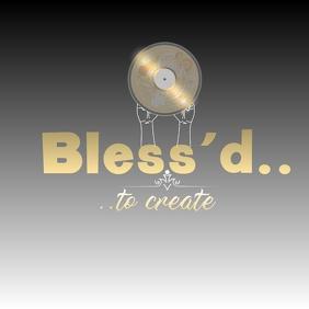 Bless'd to Create Brand Design Logo template