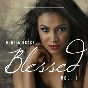 Blessed gospel music album cover art template 专辑封面