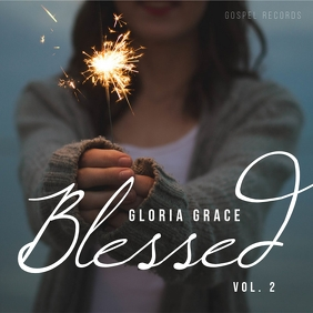 Blessed gospel music album cover art template 专辑封面
