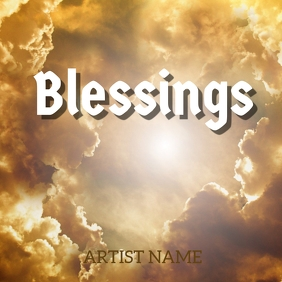 Blessings album art template