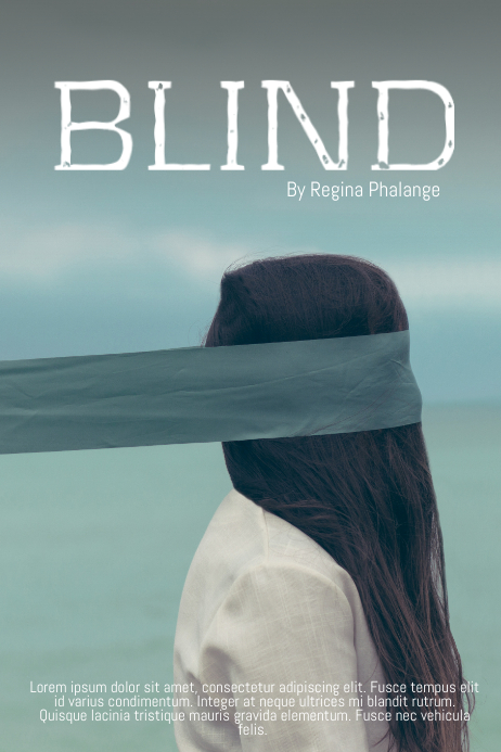 Blind deep girl teenage Scary Book Cover Movie Film Template