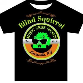Blind Squirrel Sports Music Brand Tshirt Instagram Post template
