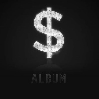 Bling Bling Dollar sign album cover video 专辑封面 template
