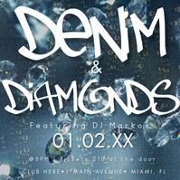 Bling Denim & Diamonds Bling Invitation Video template