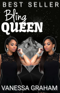 bling queen diva black book cover Half Page Wide template