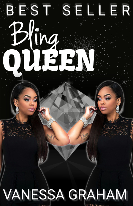 bling queen diva black book cover Halv side bred template