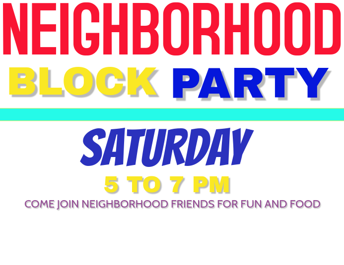 block party template postermywall