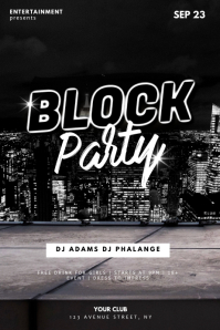 Block Party Flyer Design Template Poster