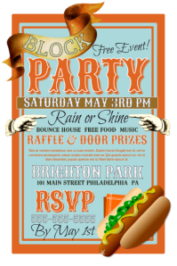 Customizable Design Templates for Block Party | PosterMyWall