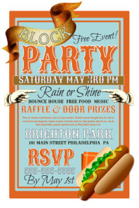 Customizable Design Templates for Block Party Event | PosterMyWall