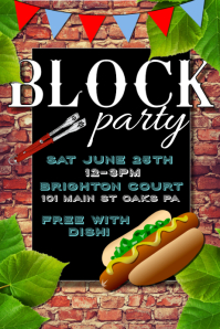 block party flyers templates