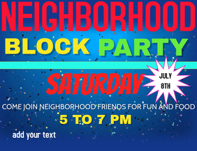 BLOCK PARTY LABOR DAY BLOCK PARTY