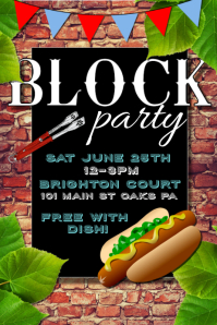 block party flyer free template free bbq invitation template beautiful block