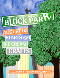 Block Party Flyer (format US Letter) template