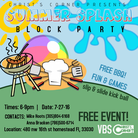 Block Party Flyer Templates