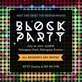 Block Party Strobe Lights Video