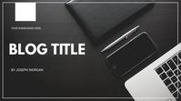 Blog flyer Presentation (16:9) template