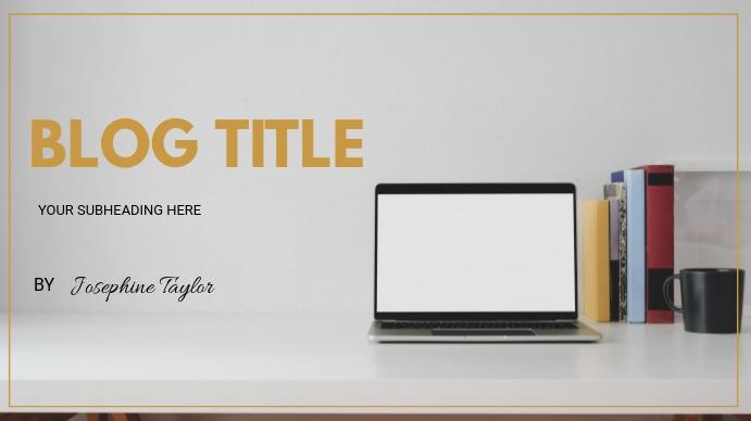 Blog flyer Presentasi (16:9) template