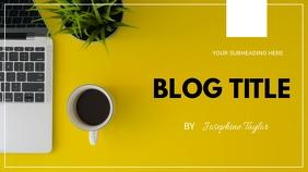 Blog flyer Présentation (16:9) template
