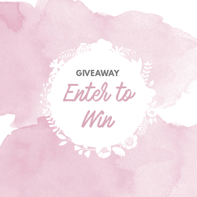 Blog Giveaway Instagram template pink girly