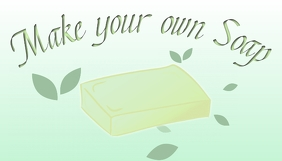 Blog post image template making soap
