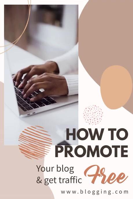 Blog Post Pinterest Header Video template