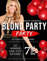 BLOND Party Night Flyer Template