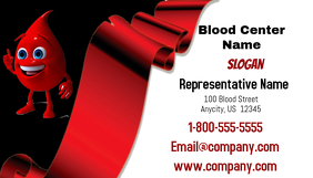 Blood Center Business Card Kartu Bisnis template