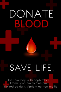 Blood Donate Poster Template