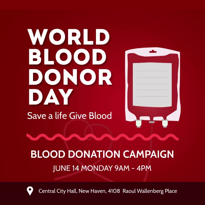 BLOOD DONATION CAMPAIGN Instagram-Beitrag template