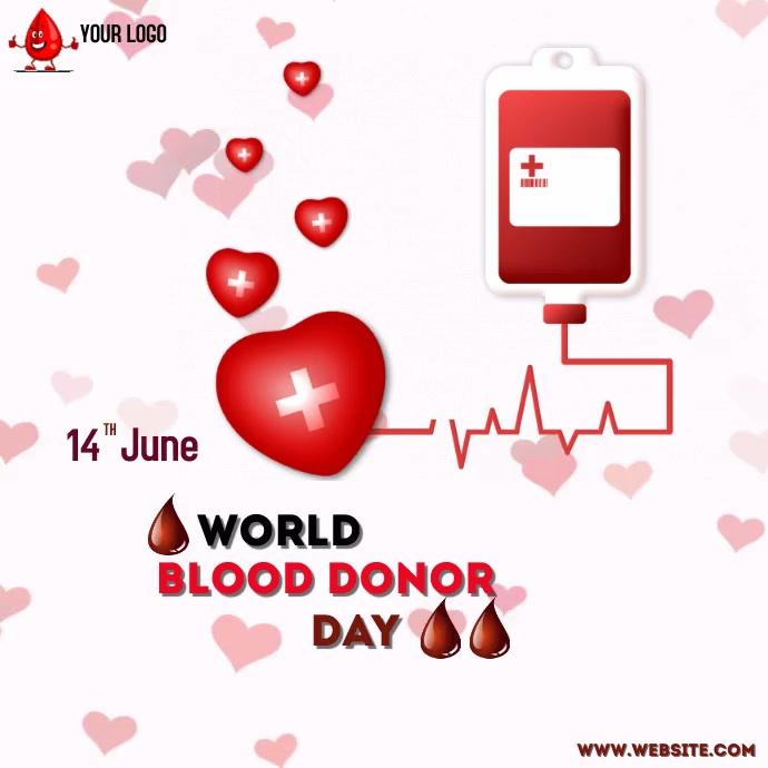 Blood donation Instagram-Beitrag template