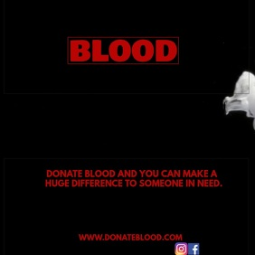 BLOOD DONATION Square (1:1) template