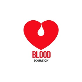 Blood Donation Logo template