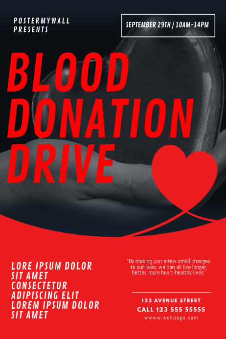 Blood Donation Drive Flyer Template