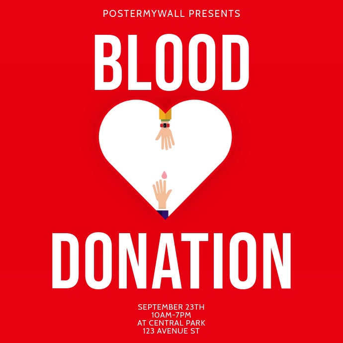Blood Donation Drive Instagram Post template