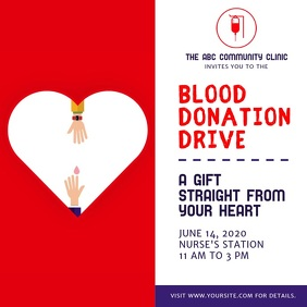 Blood Donation Drive Instagram Video Square (1:1) template