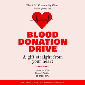 Blood Donation Drive Square Video template