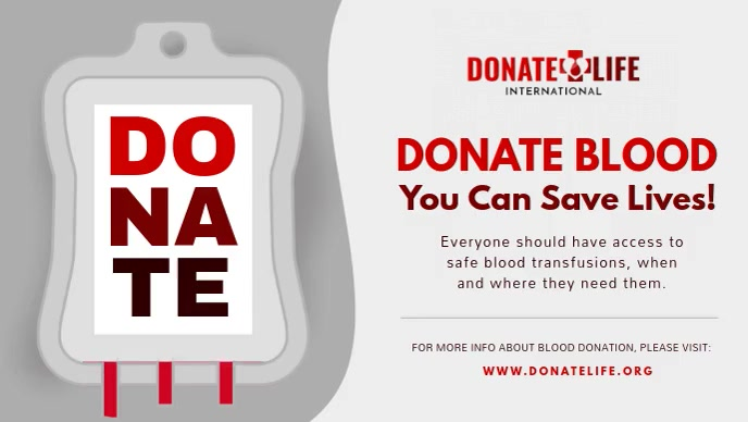 Blood Donation Facebook Cover Video template