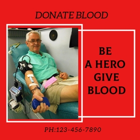 BLOOD DONATION FLYER Instagram Post template