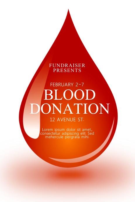Blood Donation Flyer Template Cartaz
