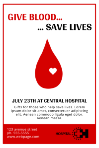 Attractive Blood Donation Flyer Template For Donation Flyer Template