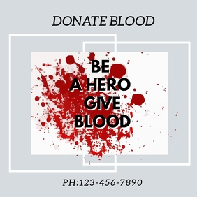 BLOOD DONATION FLYER TEMPLET Instagram Post template