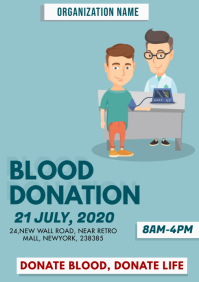 Blood Donation Graphical Poster A4 template