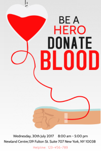 Blood Donation Graphical Poster template