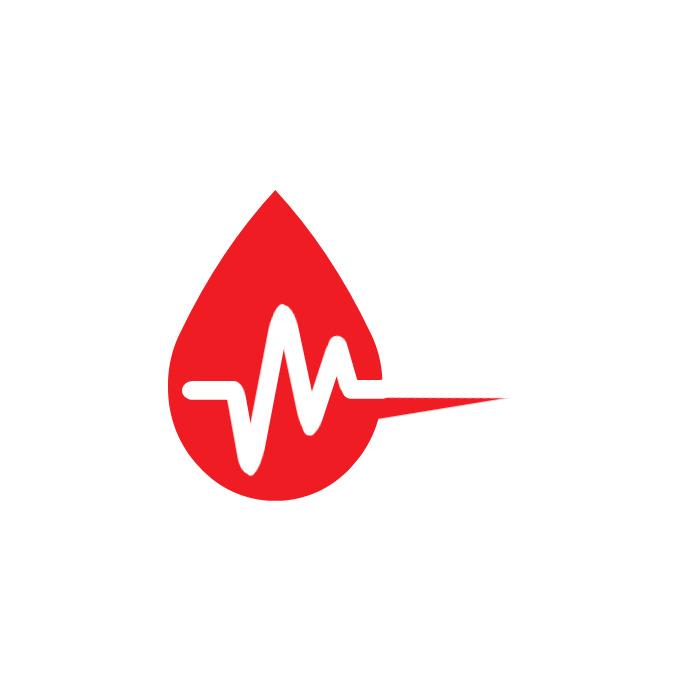 Blood Donation Illustration Logo Logotipo template
