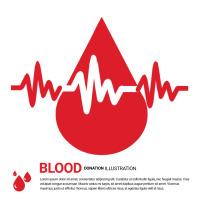 Blood Donation Illustration Logo Logótipo template