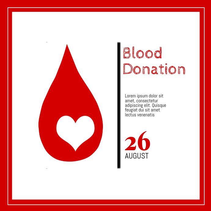 Blood Donation Instagram Post template