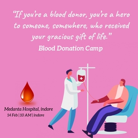 Blood donation post