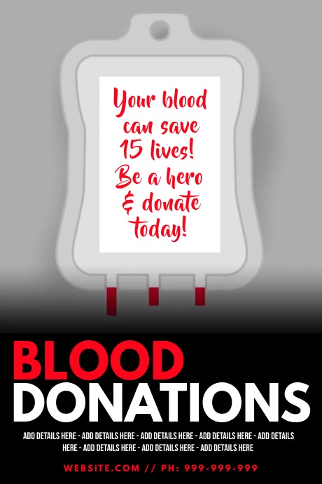 Blood Donation Poster Affiche template