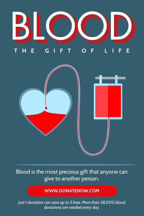 Blood donation Poster template Cartaz